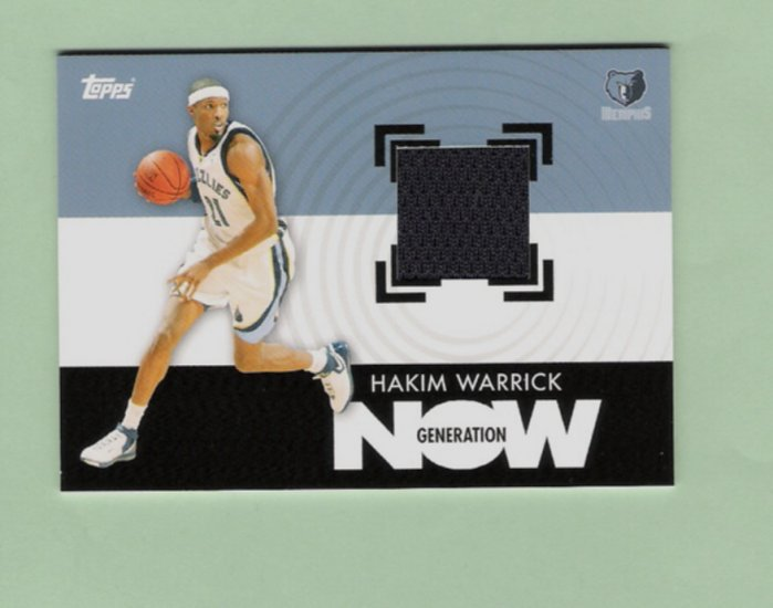 Hakim Warrick Generation Now Jersey Card