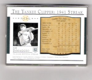 Joe DiMaggio 03 Play Ball 1941 Streak Commemorative 52