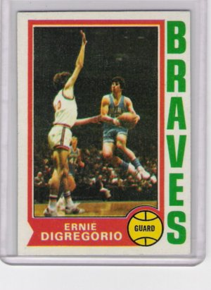 Ernie DiGregorio Buffalo Braves 74-75 Topps RC # 135