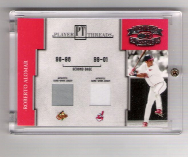 Roberto Alomar Cleveland Indians Dual Jersey Card 52/250
