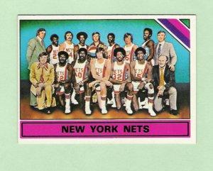 Julius Erving 1975-76 Topps Nets Team Card
