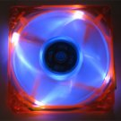 Quiet 80MM UV LED Orange Blue Glow Case Fan