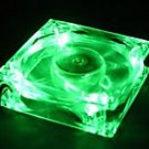 Quiet Quad 4-LED Ultra Bright Green 80MM PC Case Fan