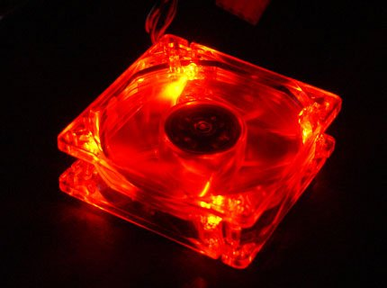 Quiet Quad 4-LED Ultra Bright Red 80MM PC Case Fan
