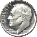 1964 or Earlier 90% Silver Roosevelt Dime