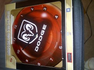 DODGE Ram Tin Wall Clock...Brand new