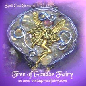 ELVEN/ TOLKIEN JEWELRY/ TREE OF GONDOR FAIRY/ Pendulum/ Spell Cast Gems(tm)/Rose Petals/Portal7ec