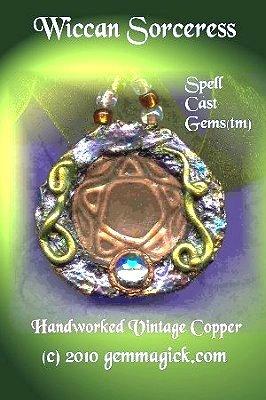 Pentagram/ Pentacle/Star/Pendant/ Necklace/ Pendulum/ WICCAN SORCERESS/Goddess/ Amulet/Vintage