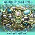 Elven Jewelry/ Tolkien Pendant/ Pendulum/ Belegaer Mermaid Grotto/Spell Cast Gems(tm)/