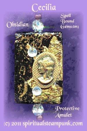 Spiritual Steampunk(tm) / CECILIA/ ATONEMENT/ Necklace/Pendulum/ Protective Love Amulet/
