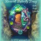 Elven/ Tolkien/ Necklace/ Pendant/ Pendulum/ RIVENDELL BUTTERFLY DRUZY/ Fairy-Inhabited/ Victorian/