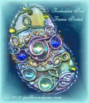 Elven/ Tolkien/ FORBIDDEN POOL Faerie Portals/ Pendulum/ Necklace/ Spell Bound Gems(tm)/ Roses