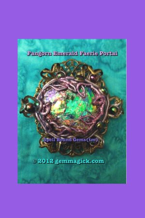 Faerie Portal Necklace/ Fangorn/ Tolkien/ Spell Bound Gems(tm)/ Custom Magic
