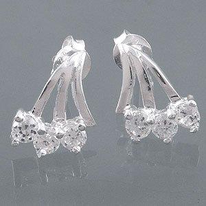 White CZ sterling earrings