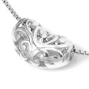 Baroque Filigree Sterling Silver Slide Pendant