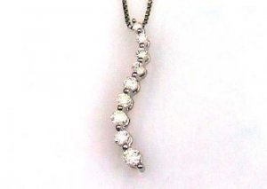 Natural .25ct Diamond Journey Pendant 10KT White Gold