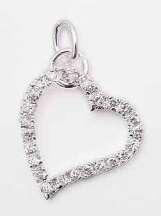 Floating CZ Heart Pendant
