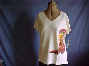 Wonderful Cowboy theme top for wearing with jeans. Size large