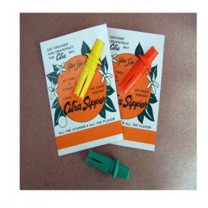 Citra Sipper Orange Citrus Straw AMAZING WORLD'S SMALLEST ORANGE JUICE EXTRACTOR