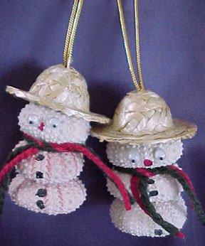 Shell Snowman Ornament