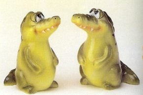 Gator Salt and Pepper Shakers