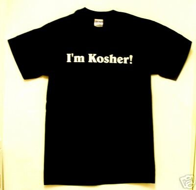 Judaica I'm Kosher 100% Cotton Preshrunk T Shirt
