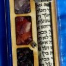 Mezuza Chosen Colorful Stones Wood Mezuzah Mezzuzah