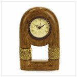 #37965 Wood Clock with Rope Trim