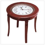 #35037 Table with Clock Top