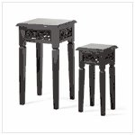 #36647 Distress Black Nesting Tables