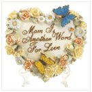 #37782 Heart Shaped Butterfly Plaque for Mom