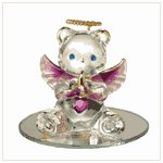 #35068 February Birthstone Angel Bear