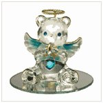 #35078 December Birthstone Angel Bear