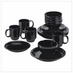 #38626 Ebony Elegance Dinnerware - 16 pc