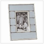 #36666 Distress Blue White Photo Frame
