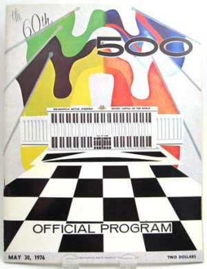 60th INDIANAPOLIS 500 May 1976 Souvenir Program Guide