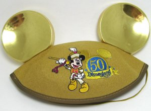 Disneyland 50th Anniversary Souvenir Gold Mickey Ears