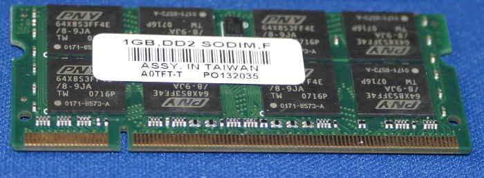 PNY DDR2 4200 2x1 Gb. SoDimm