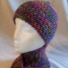 Knit Cotton Candy Hat and Scarf Ensemble