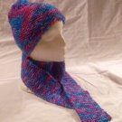 Knit BonBon Hat and Scarf Ensemble