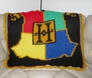 Crochet Harry Potter Hogwarts Blanket