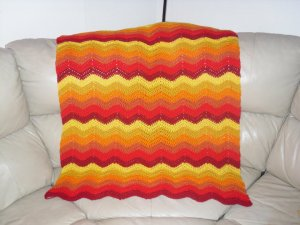Blazing Fire Chevron Blanket