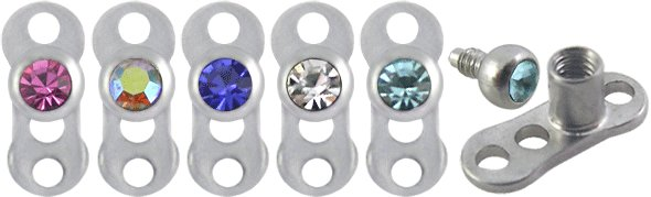 Jeweled Titanium G23 Dermal Achors