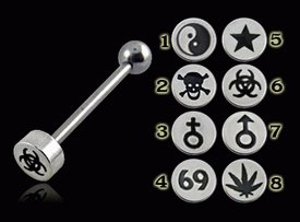Logo Steel Tongue Barbell