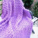 HAND CROCHETED LAPGHAN AFGHAN IN BEAUTIFUL ORCHID