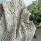 HAND CROCHETED AFGHAN IN ARAN FLECK COLOR