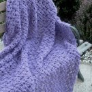 HAND CROCHETED AFGHAN IN BEAUTIFUL LAVENDAR