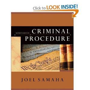 Criminal Procedure (7th Edition) by Joel Samaha