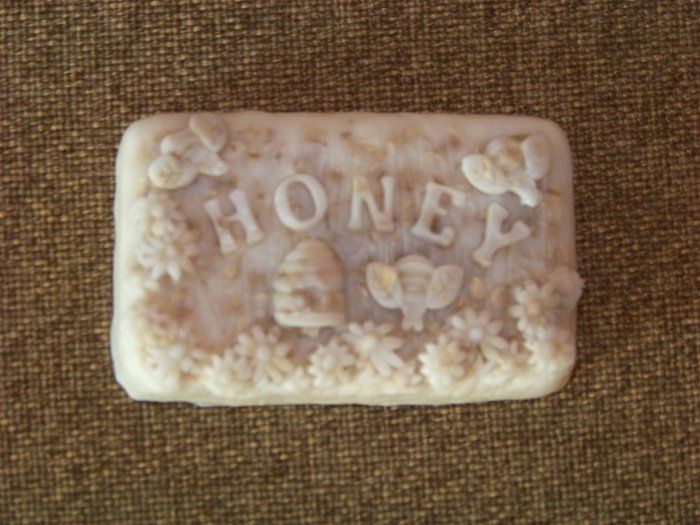 3 Handmade Unscented Oatmeal & Honey Goats Milk Soaps