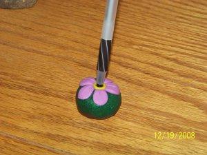 1 Handmade Customized Polymer Flower Pen Holder
